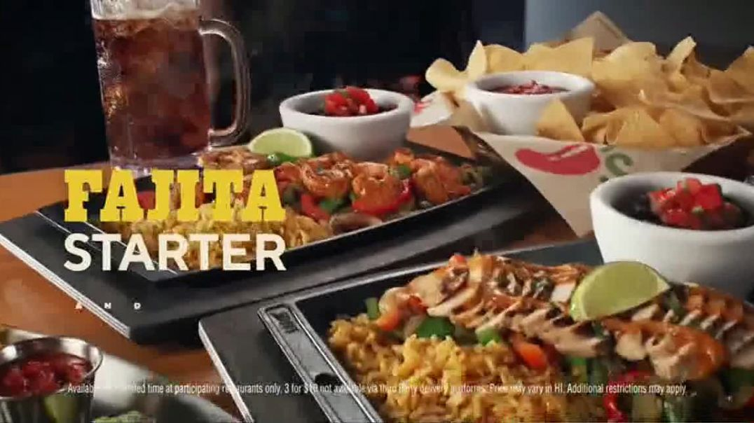 Chilis Chicken or Shrimp Fajitas TV Commercial Ad, Go Out to Ita
