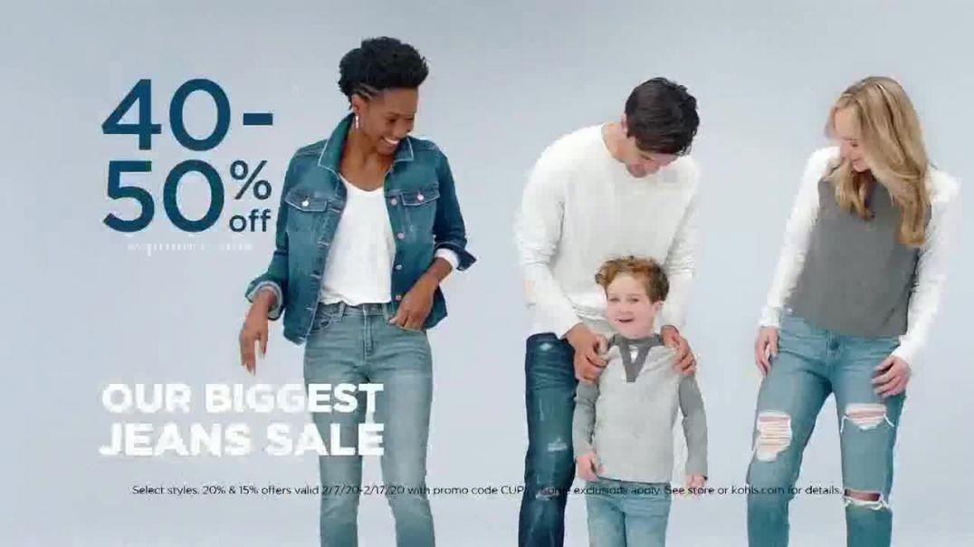 Kohls Biggest Jeans Sale TV Commercial Ad, Discounts and Amazon Returns