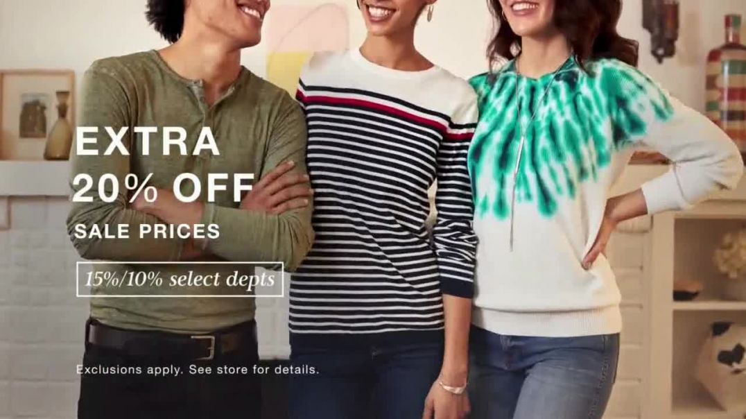 Macys Presidents Day Sale TV Commercial Ad, Extra 20 Percent, Levis and Sectional