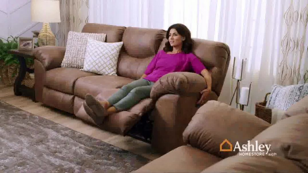Ashley HomeStore Presidents Day Sale TV Commercial Ad, 30 Percent Off Reclining Sofa and Storage Bed