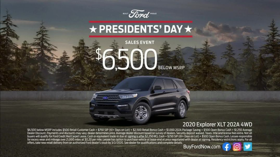 Ford Presidents Day Sales Event TV Commercial Ad, John Quincy Adams