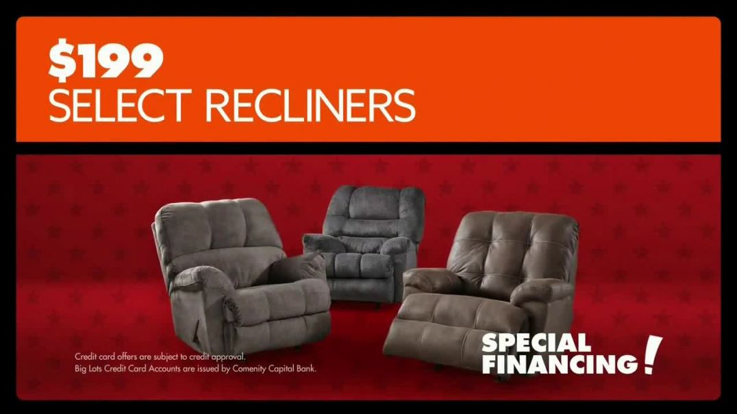 Big Lots Presidents 3Day Sale TV Commercial Ad, Recliners.mp4