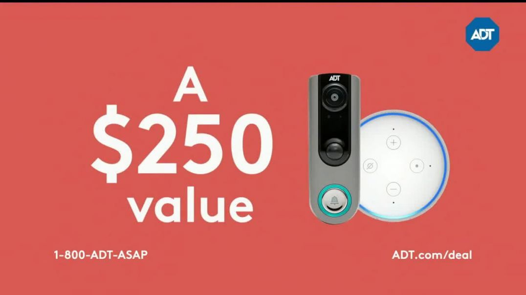 ADT Smart Home Security Sale TV Commercial, Video Doorbell and Echo Dot Commercial