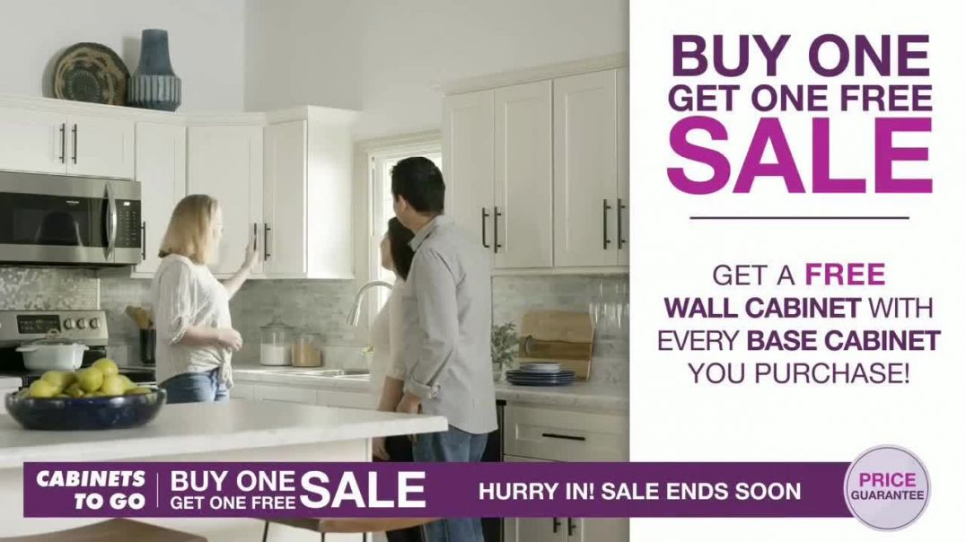 Cabinets To Go Buy One Get One Free Sale TV Commercial, New Kitchen Commercial