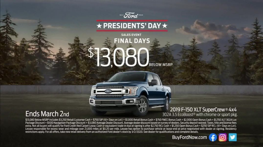 Ford Presidents Day Sales Event TV Commercial Ad, Harry Truman