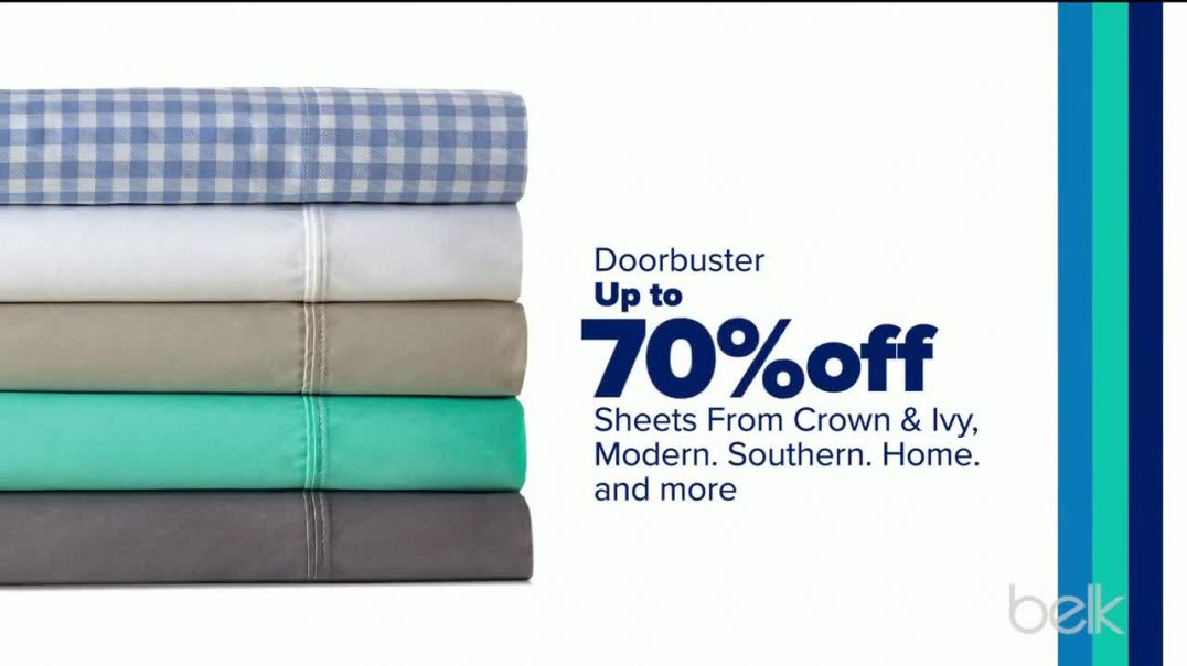 Belk Stock Up Sale TV Commercial Ad, Sheets and Kids Apparel