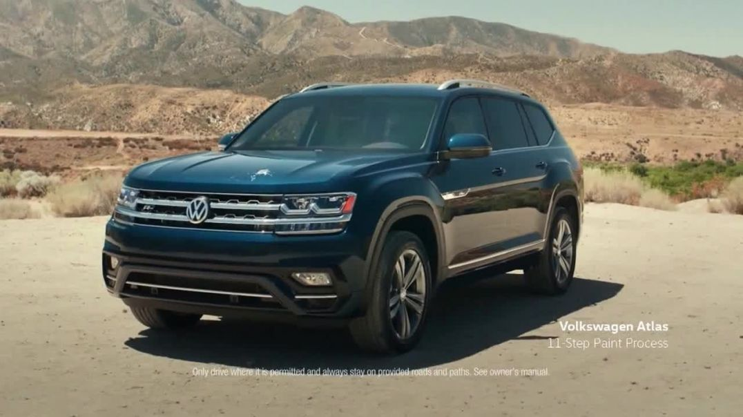 2019 Volkswagen Atlas TV Commercial Ad, Eleven Steps