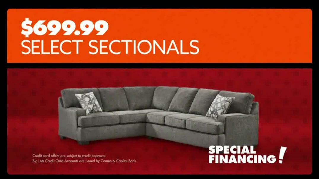 Big Lots Presidents Day Sale TV Commercial Ad, Saluting Savings Sectionals