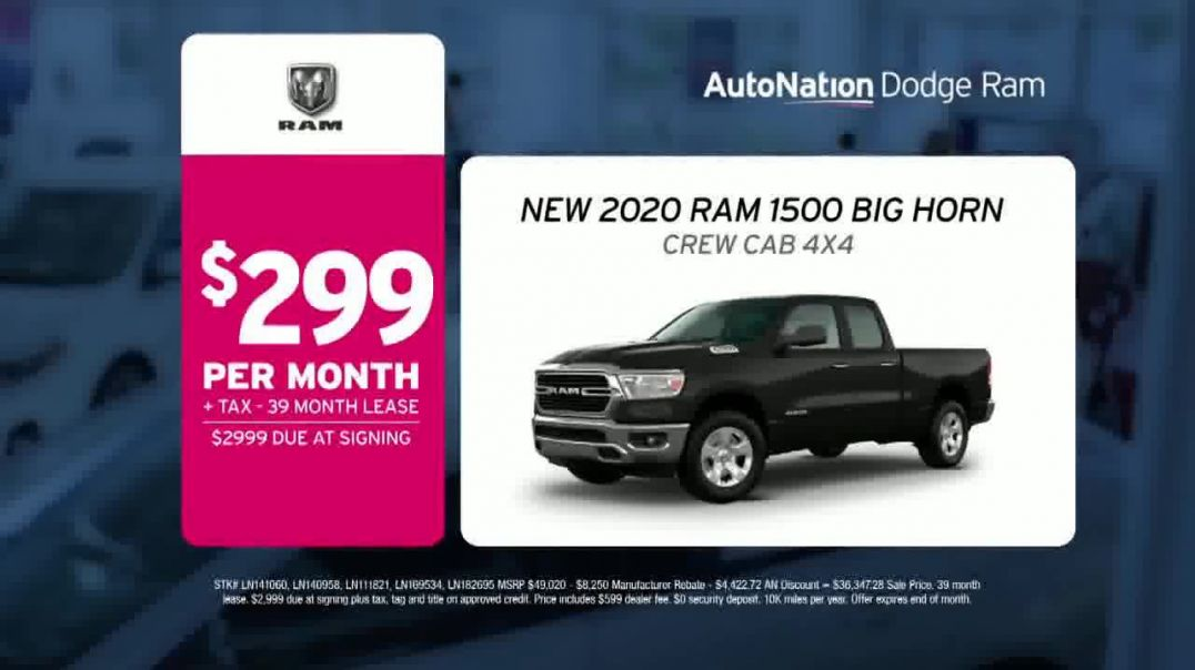 AutoNation Weekend of Wow TV Commercial Ad, Extended 2020 Ram 1500 Big Horn