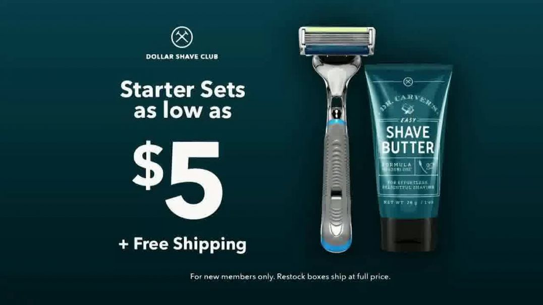 Dollar Shave Club Starter Sets TV Commercial Ad, Cover All Your Grooming Needs