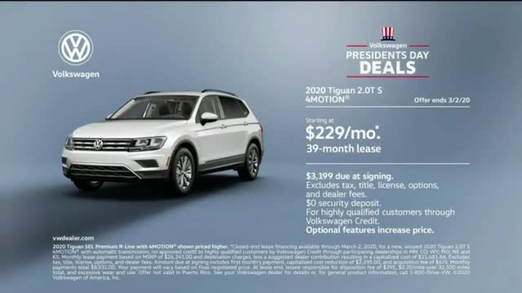 Volkswagen Presidents Day Deals TV Commercial Ad 2020, Road Conditions
