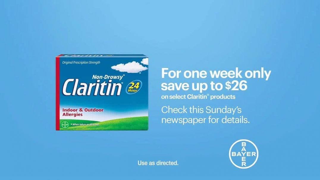 Claritin TV Commercial Ad 2020, Feel the Clarity Save $26