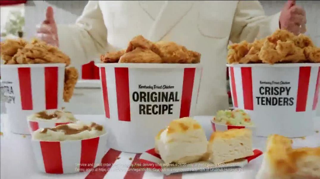 KFC $20 Fill Up TV Commercial Ad 2020, Holy Buckets Free Delivery