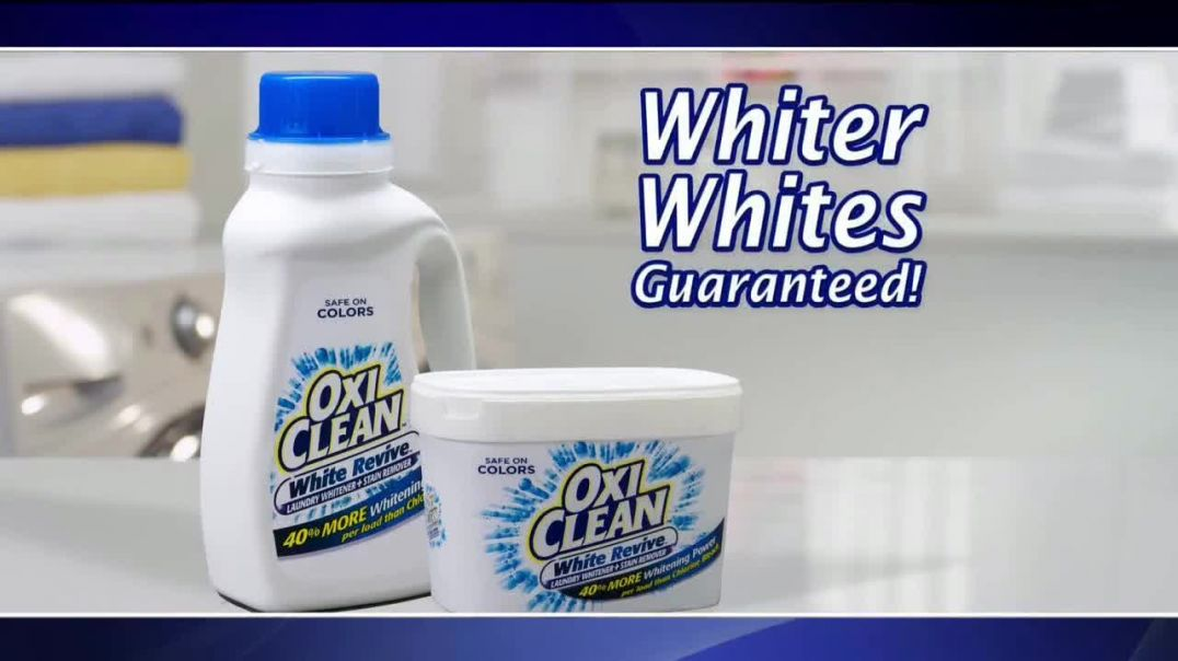 OxiClean White Revive TV Commercial Ad 2020, Laundry Lab