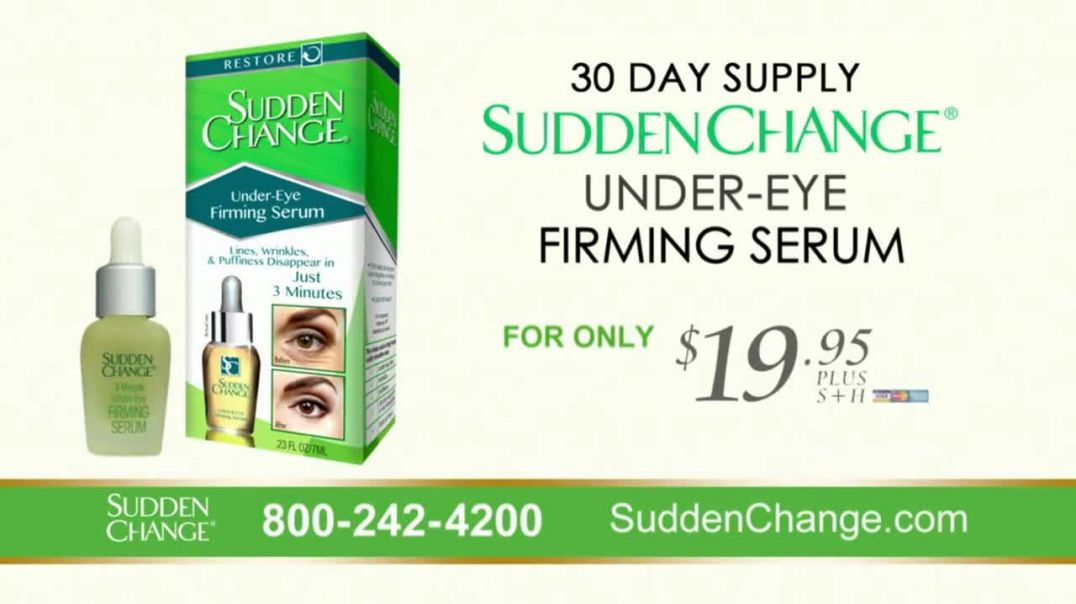 Sudden Change UnderEye Firming Serum TV Commercial Ad 2020, Purse Size