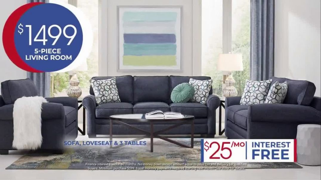 Rooms to Go Anniversary Sale TV Commercial Ad, Five Piece Living Room Set Song by Junior Senior Adve