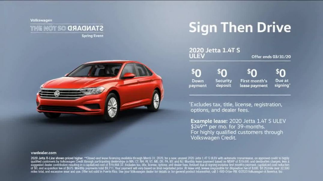 Volkswagen Not So Standard Spring Event TV Commercial Ad, Sign Then Drive Standard Advert 2020
