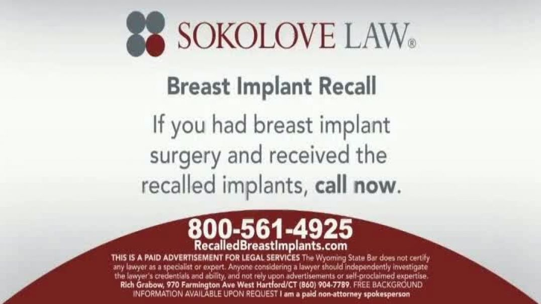 Sokolove Law TV Commercial Ad 2020, Breast Implant Recall