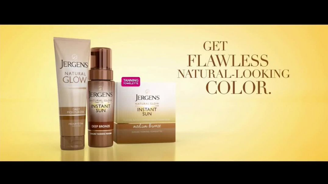 Jergens Natural Glow TV Commercial Ad 2020, No Tan Lines Tanning Towelette Featuring Leslie Mann