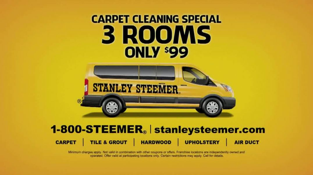 Stanley Steemer Carpet Cleaning Special TV Commercial Ad 2020, Three Rooms Only $99