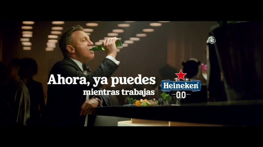 Heineken 00 TV Commercial Ad 2020, Daniel Craig vs James Bond con Daniel Craig