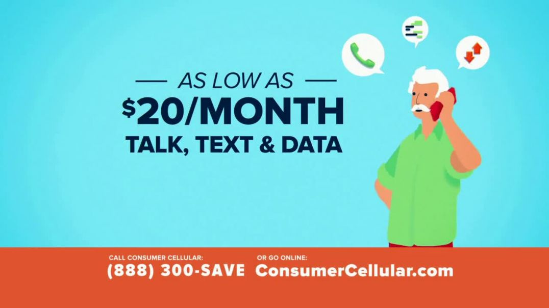 Consumer Cellular TV Commercial Ad 2020, Better Value Pizza Plans $20+ a Month