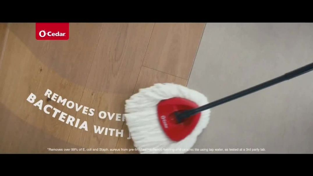 OCedar EasyWring Spin Mop TV Commercial Ad 2020, Crocodile on the Floor