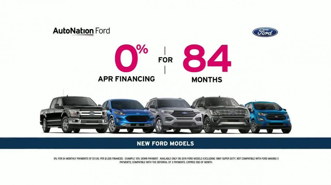 AutoNation TV Commercial Ad 2020, Store to Door Delivery Special Ford Financing