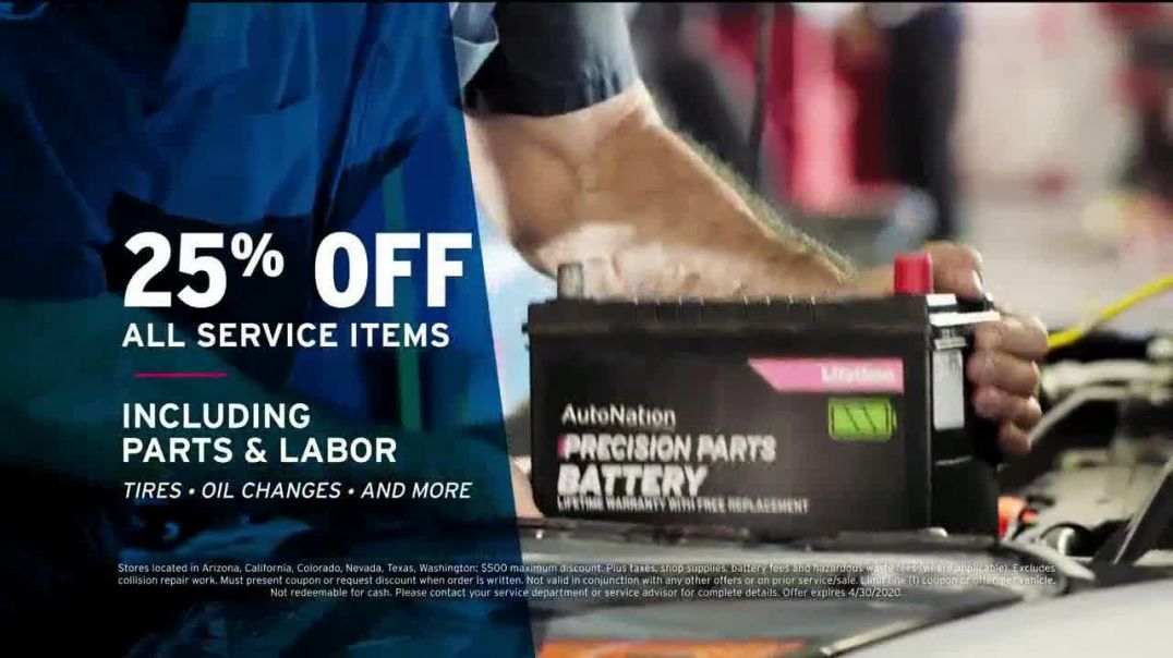 AutoNation Ford TV Commercial Ad 2020, Store to Door Delivery 25 Percent off Service Items &