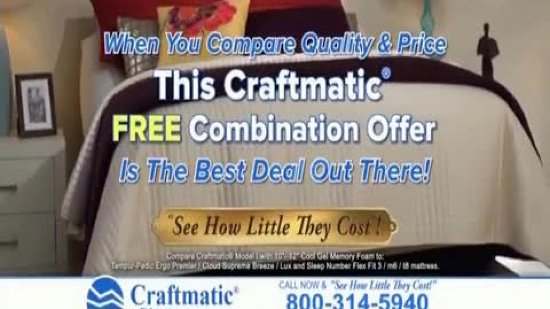 Craftmatic TV Commercial Ad 2020, Fully Adjustable Base Free