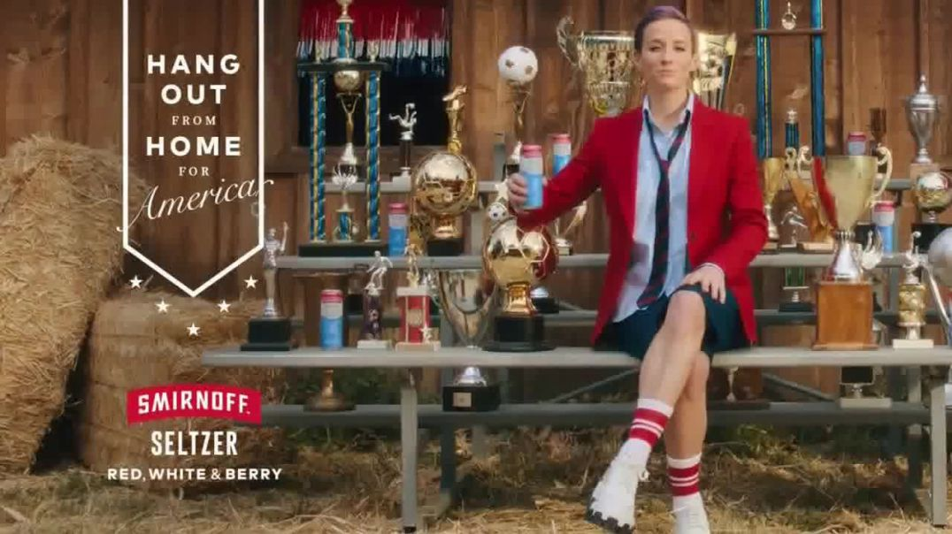 Smirnoff Seltzer TV Commercial Ad 2020, Hang Out From Home Featuring Megan Rapinoe