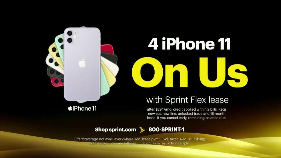 Sprint Best Unlimited Deal TV Commercial Ad 2020, Saving Money- Four Lines and Four iPhone 11s