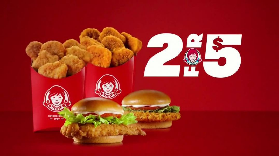 Wendys 2 for $5 TVCommercial Ad 2020, All the Chicken You Crave
