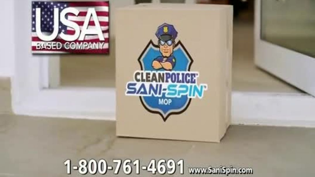 Clean Police Sani Spin TV Commercial Ad 2020, The Next Generation Mop
