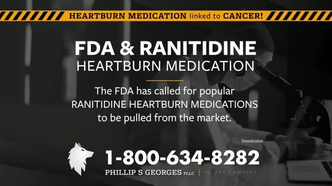 Phillip S Georges, PLLC TV Commercial Ad 2020, Heartburn Medications Linked to Cancer