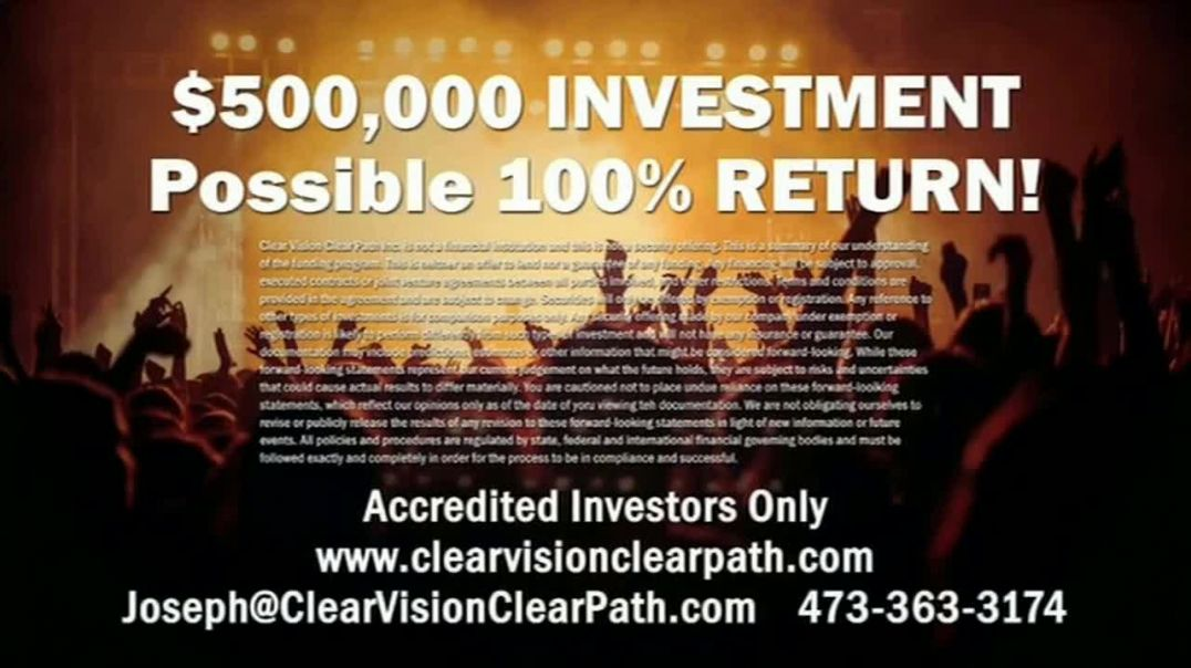 Clear Vision Clear Path Inc TV Commercial Ad 2020, Invest in Entertainment