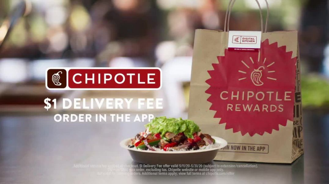 Chipotle Mexican Grill Digital Kitchen TV Commercial Ad 2020, Appetizing- $1 Delivery