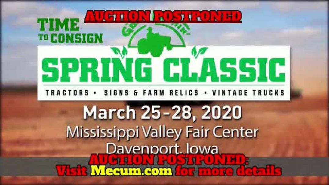 Mecum Auctions Spring Classic TV Commercial Ad 2020, The Lehr Collection  Postponed