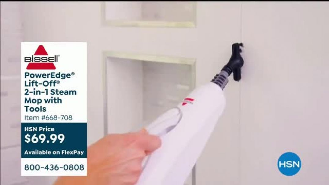 Bissell PowerEdge Lift Off 2 in 1 Steam Mop TV Commercial Ad 2020, HSN  Sanitize and Clean Your Floo