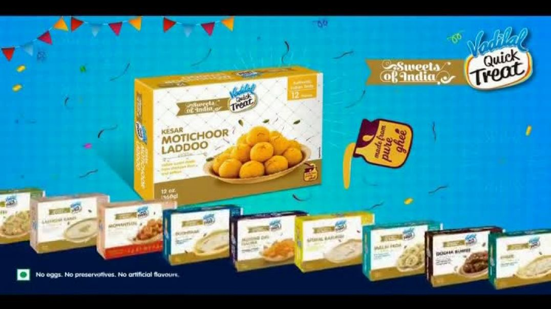 Vadilal Quick Treat TV Commercial Ad 2020, Sweets of India