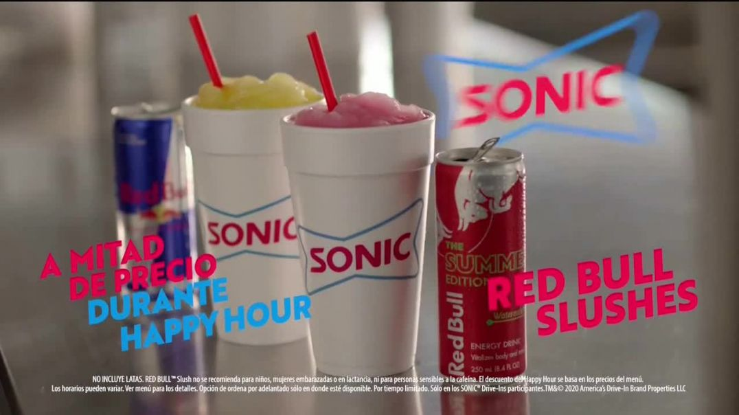 Sonic Drive-In Red Bull Summer Edition Slushes TV Commercial Ad 2020, Pidelo bien frío