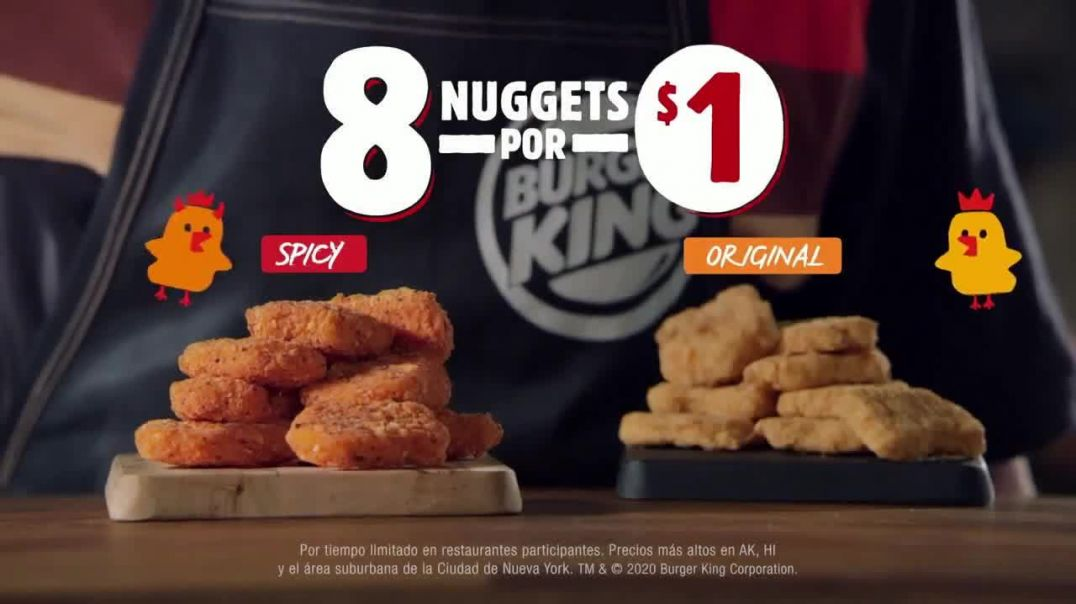 Burger King Spicy Nuggets TV Commercial Ad 2020, Pídelo