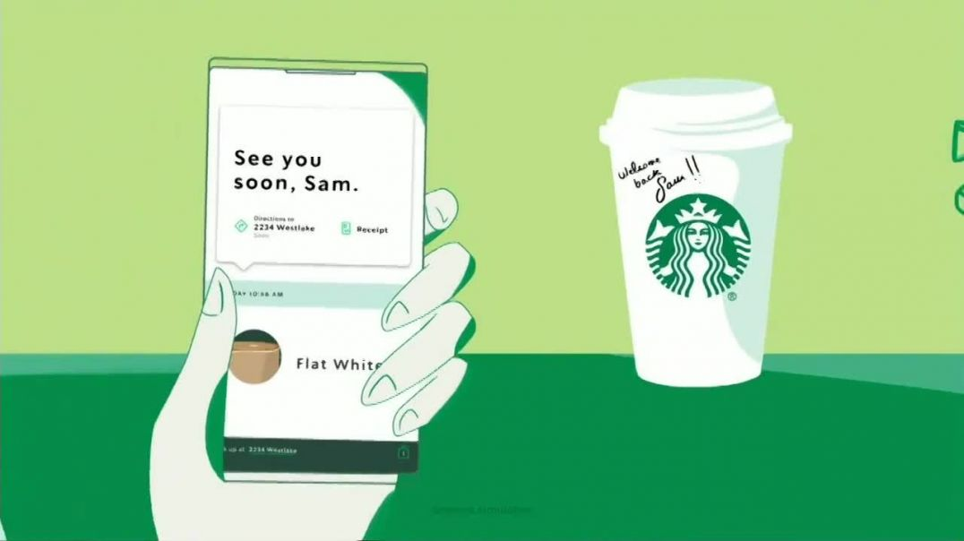 Starbucks App TV Commercial Ad 2020, Welcome Back