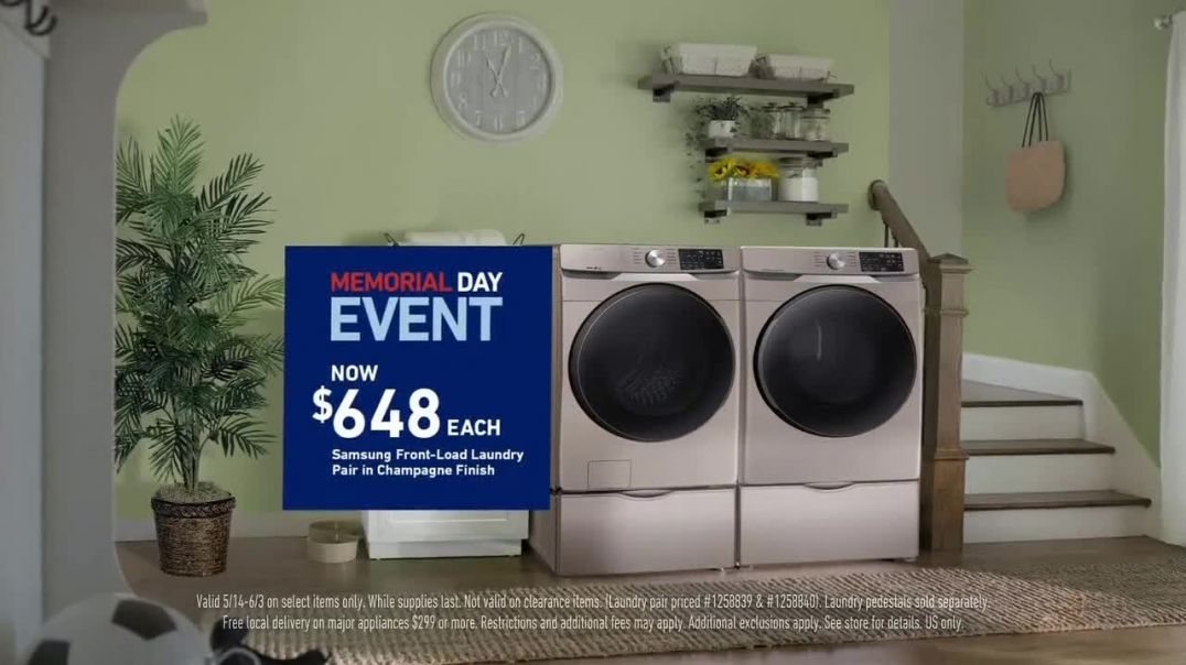 Lowes Memorial Day Event TV Commercial Ad 2020, Samsung Laundry Pair