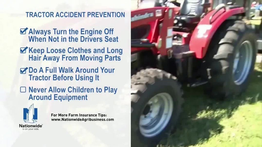 Nationwide Agribusiness TV Commercial Ad 2020, Tractor Accident Prevention Tips