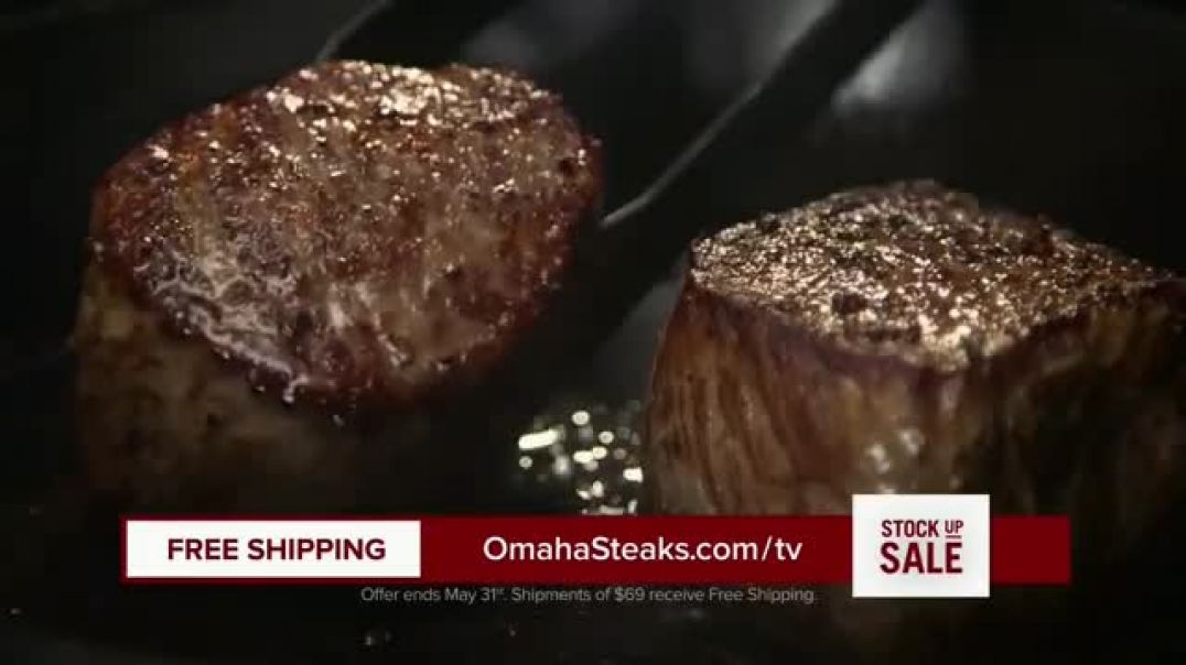 Omaha Steaks Stock Up Sale TV Commercial Ad 2020, Dinner