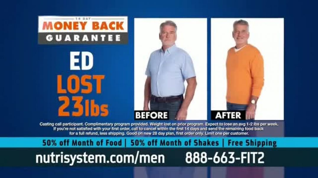 Nutrisystem for Men 50 50 Deal TV Commercial Ad 2020, Take Back Control  50 Percent off and Free Shi