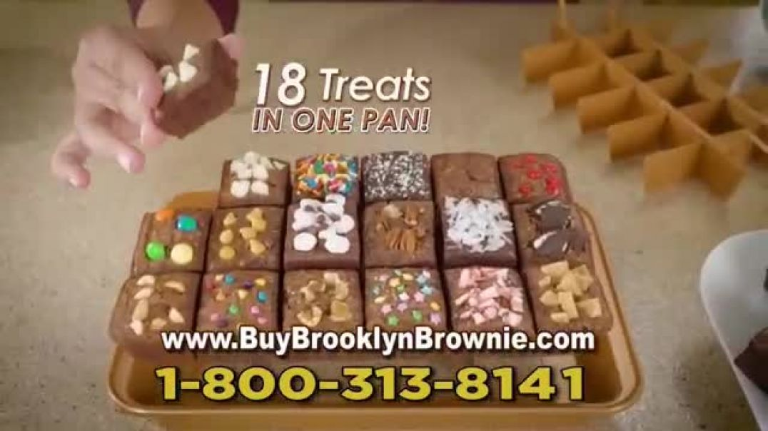 Brooklyn Brownie Gotham Steel TV Commercial Ad 2020, Bake, Slice and Serve  Recipe Guide