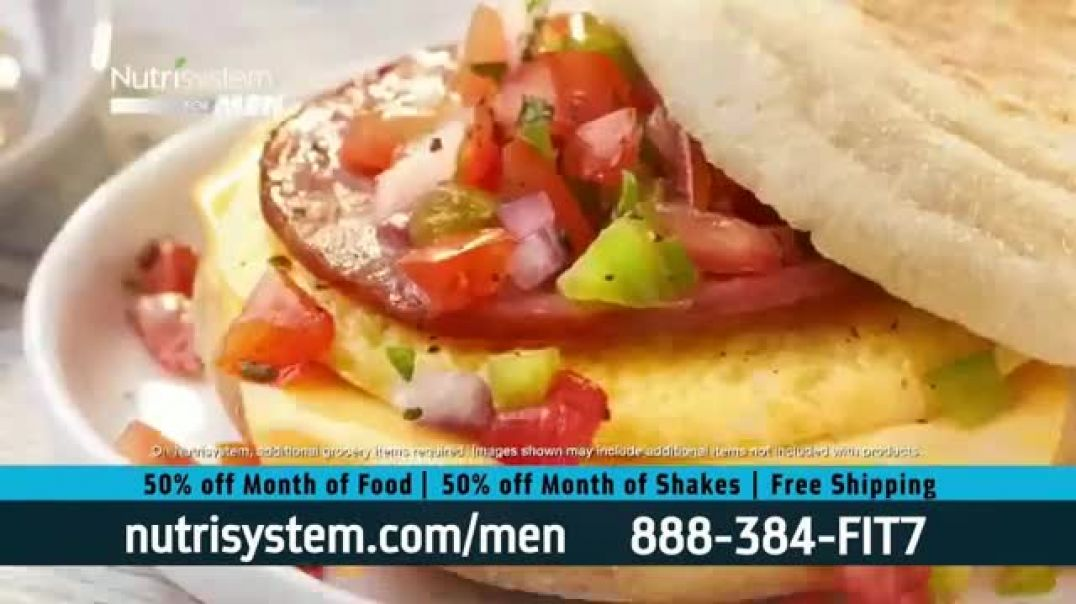 Nutrisystem for Men 50 50 Deal TV Commercial Ad 2020, Stuck at Home