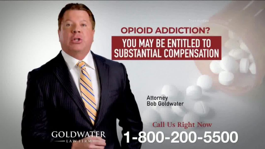 Goldwater Law Firm TV Commercial Ad 2020, Opioid Addiction- Still Working